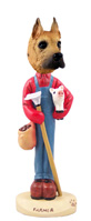 Great Dane Fawn Farmer Doogie Collectable Figurine