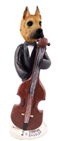 Great Dane Fawn Bassist Doogie Collectable Figurine