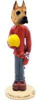 Great Dane Fawn Construction Worker Doogie Collectable Figurine