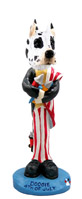 Great Dane Harlequin 4th of July Doogie Collectable Figurine