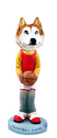 Husky Red & White w/Blue Eyes Basketball Doogie Collectable Figurine