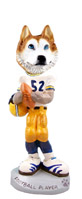 Husky Red & White w/Blue Eyes Football Player Doogie Collectable Figurine