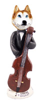 Husky Red & White w/Blue Eyes Bassist Doogie Collectable Figurine