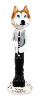 Husky Red & White w/Blue Eyes Clarinetist Doogie Collectable Figurine