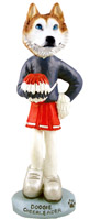 Husky Red & White w/Blue Eyes Cheerleader Doogie Collectable Figurine