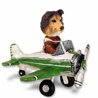Sheltie Sable Airplane Doogie Collectable Figurine