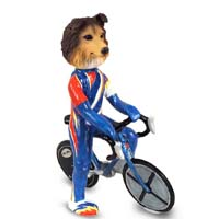 Sheltie Sable Bicycle Doogie Collectable Figurine