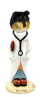 Sheltie Tricolor Doctor Doogie Collectable Figurine