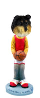 Sheltie Tricolor Basketball Doogie Collectable Figurine