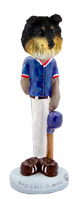Sheltie Tricolor Baseball Doogie Collectable Figurine