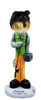 Sheltie Tricolor Fisherman Doogie Collectable Figurine