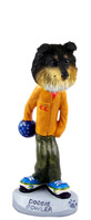 Sheltie Tricolor Bowler Doogie Collectable Figurine