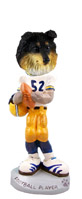 Sheltie Tricolor Football Player Doogie Collectable Figurine
