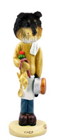 Sheltie Tricolor Chef Doogie Collectable Figurine