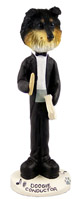 Sheltie Tricolor Conductor Doogie Collectable Figurine