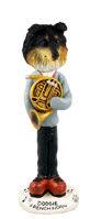 Sheltie Tricolor French Horn Doogie Collectable Figurine