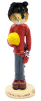 Sheltie Tricolor Construction Worker Doogie Collectable Figurine
