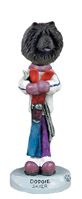 Chow Black Skier Doogie Collectable Figurine