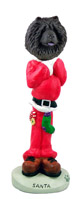 Chow Black Santa Doogie Collectable Figurine