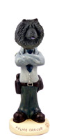 Chow Black Police Doogie Collectable Figurine