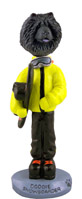 Chow Black Snowboarder Doogie Collectable Figurine