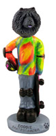 Chow Black Skateboarder Doogie Collectable Figurine