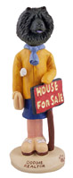 Chow Black Realtor (female) Doogie Collectable Figurine