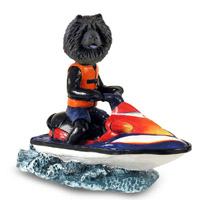 Chow Black Jet Ski Doogie Collectable Figurine