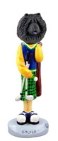 Chow Black Golf Doogie Collectable Figurine