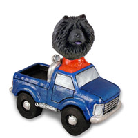 Chow Black Pickup Doogie Collectable Figurine