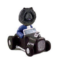 Chow Black Hot Rod Doogie Collectable Figurine