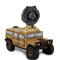Chow Black Hummer Doogie Collectable Figurine