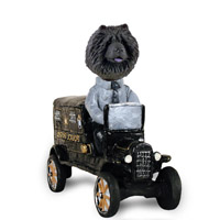 Chow Black Paddy Wagon Doogie Collectable Figurine