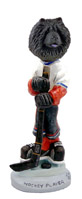 Chow Black Hockey Player Doogie Collectable Figurine