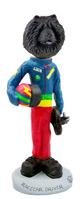 Chow Black Racecar Driver Doogie Collectable Figurine