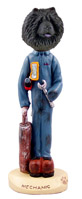 Chow Black Mechanic Doogie Collectable Figurine