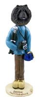 Chow Black Photographer Doogie Collectable Figurine