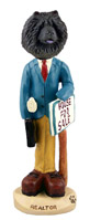Chow Black Realtor (male) Doogie Collectable Figurine