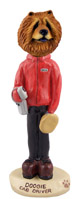 Chow Red Cab Driver Doogie Collectable Figurine