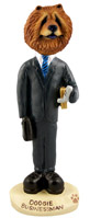 Chow Red Businessman Doogie Collectable Figurine