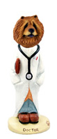 Chow Red Doctor Doogie Collectable Figurine