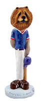 Chow Red Baseball Doogie Collectable Figurine