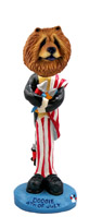 Chow Red 4th of July Doogie Collectable Figurine
