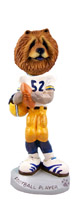 Chow Red Football Player Doogie Collectable Figurine
