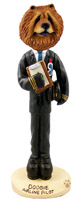 Chow Red Airline Pilot Doogie Collectable Figurine