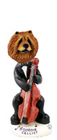 Chow Red Cellist Doogie Collectable Figurine