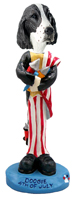 Springer Spaniel Liver 4th of July Doogie Collectable Figurine