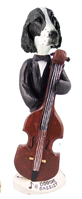 Springer Spaniel Liver Bassist Doogie Collectable Figurine