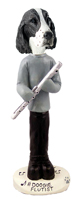 Springer Spaniel Liver Flutist Doogie Collectable Figurine