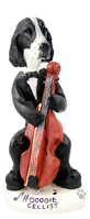 Springer Spaniel Liver Cellist Doogie Collectable Figurine